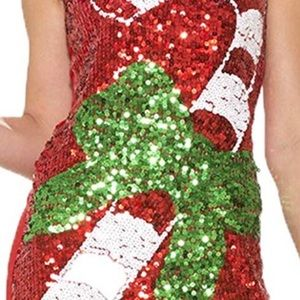 Dresses & Skirts - Candy Cane Sequin Christmas Dress Used M/L
